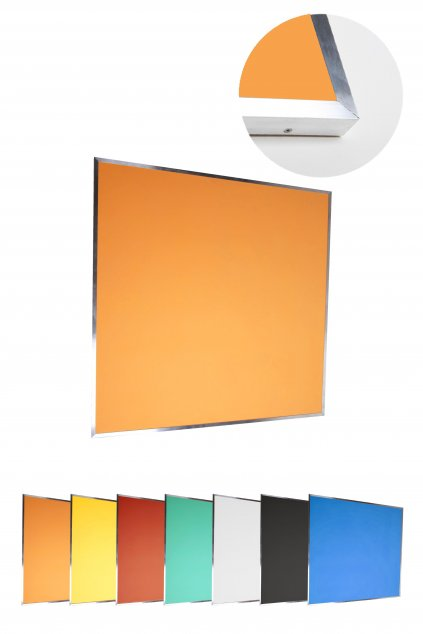 Pěnová nástěnka s hliníkovým rámem 100 x 100 cm