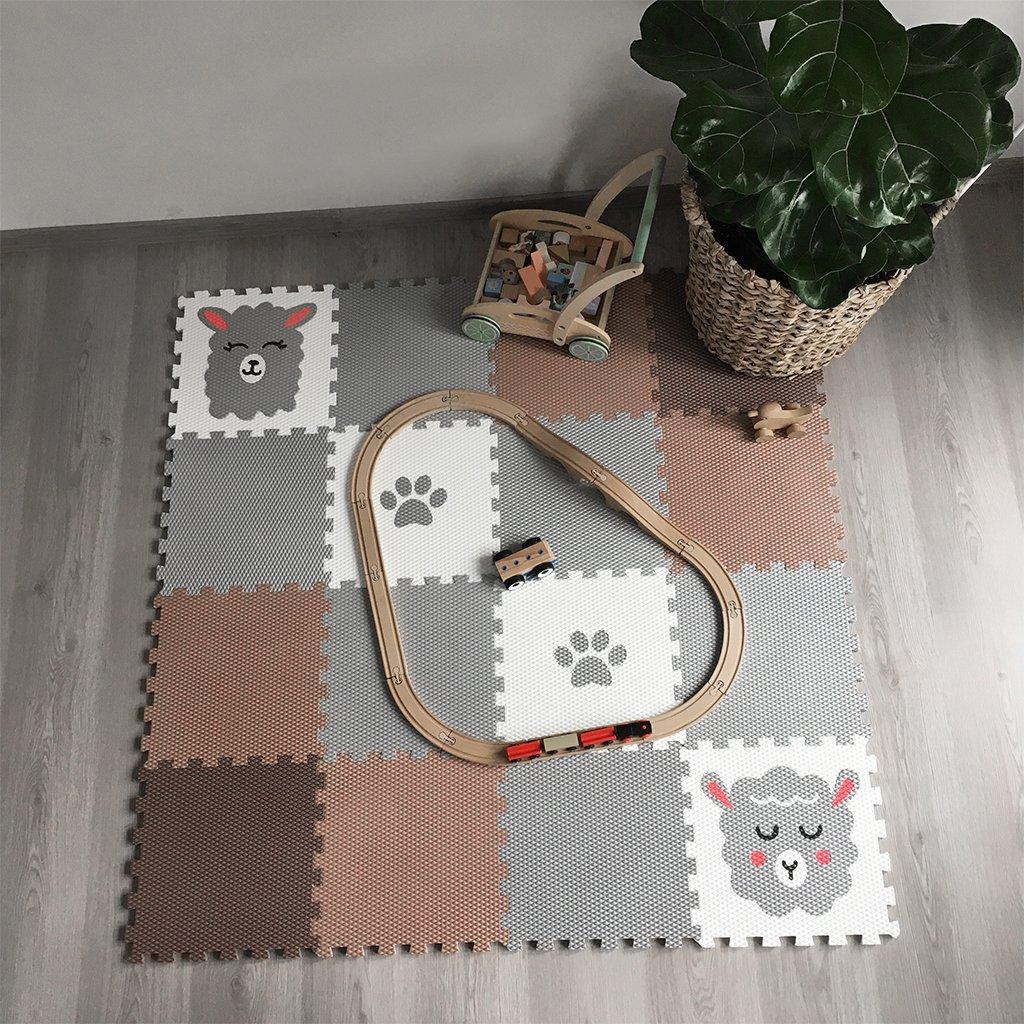 Minideckfloor podlaha 16 dílů - beránek, lama 0118