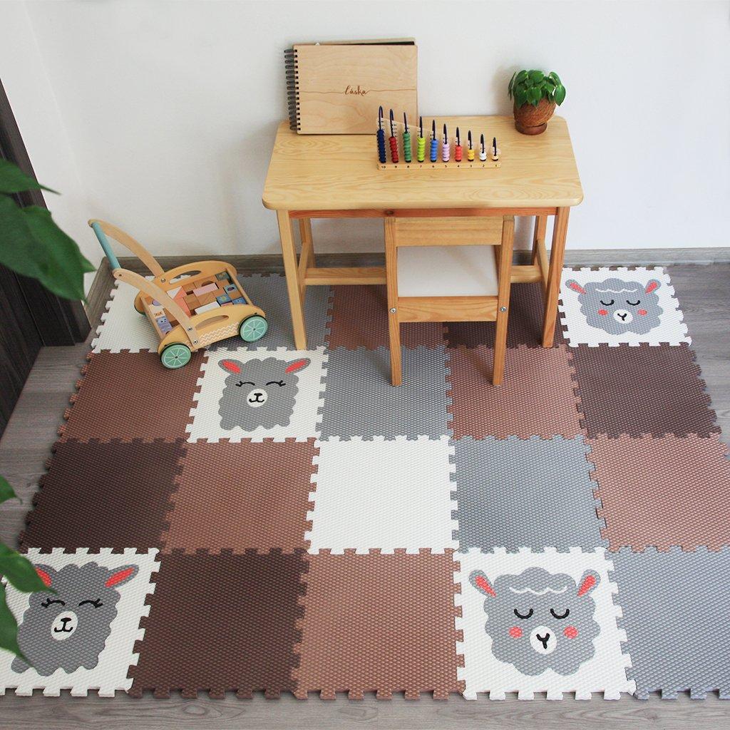 Minideckfloor podlaha 20 dílů - beránek, lama 0119