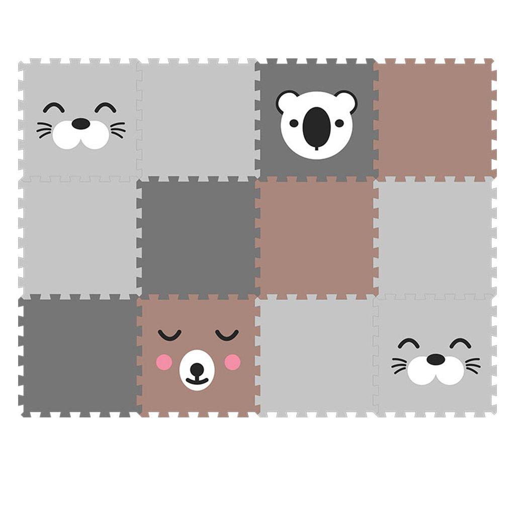 Minideckfloor podlaha 12 dílů - tuleň, medvěd, koala