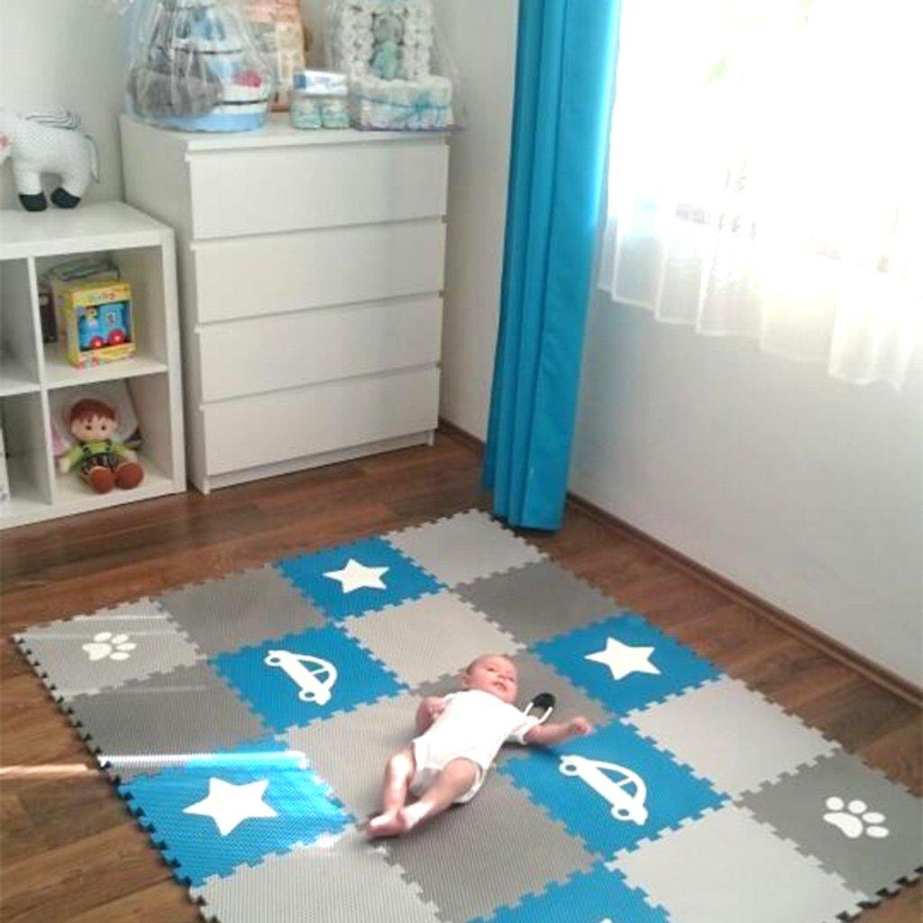 Minideckfloor podlaha 20 dílů - auto, hvězda, tlapka