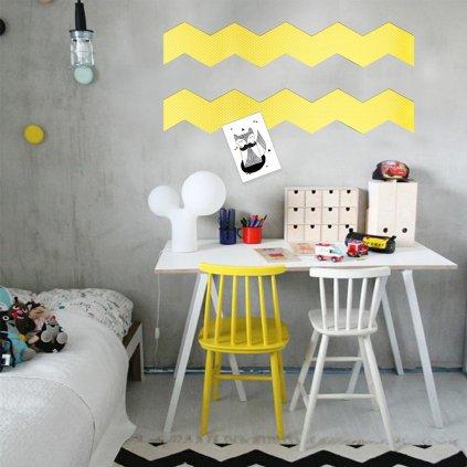 dekorace stěn zig zag