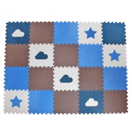 Minideckfloor podlaha 20 dílů - hvězda a mrak
