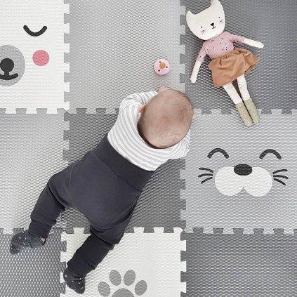 Minideckfloor podlaha 20 dílů - tlapka a medvěd