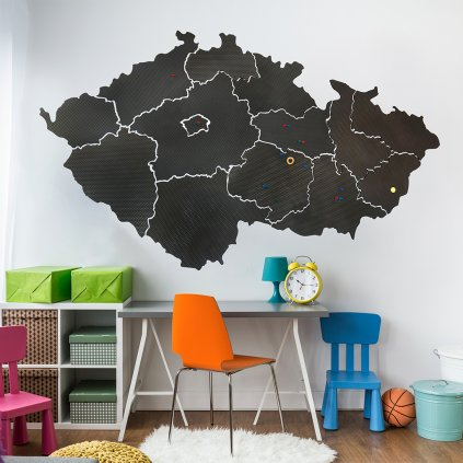 mapa cr bw