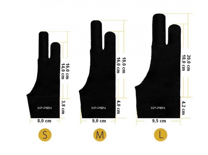 Umělecká rukavice XP-Pen S / M / L