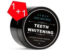 Charcoal Bělící pudr na zuby 30 g 1+1 ZDARMA