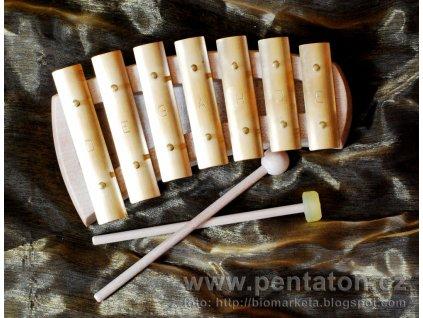 Zvonkohra Auris - pentatonická - 7 tónů - zaoblené tělo