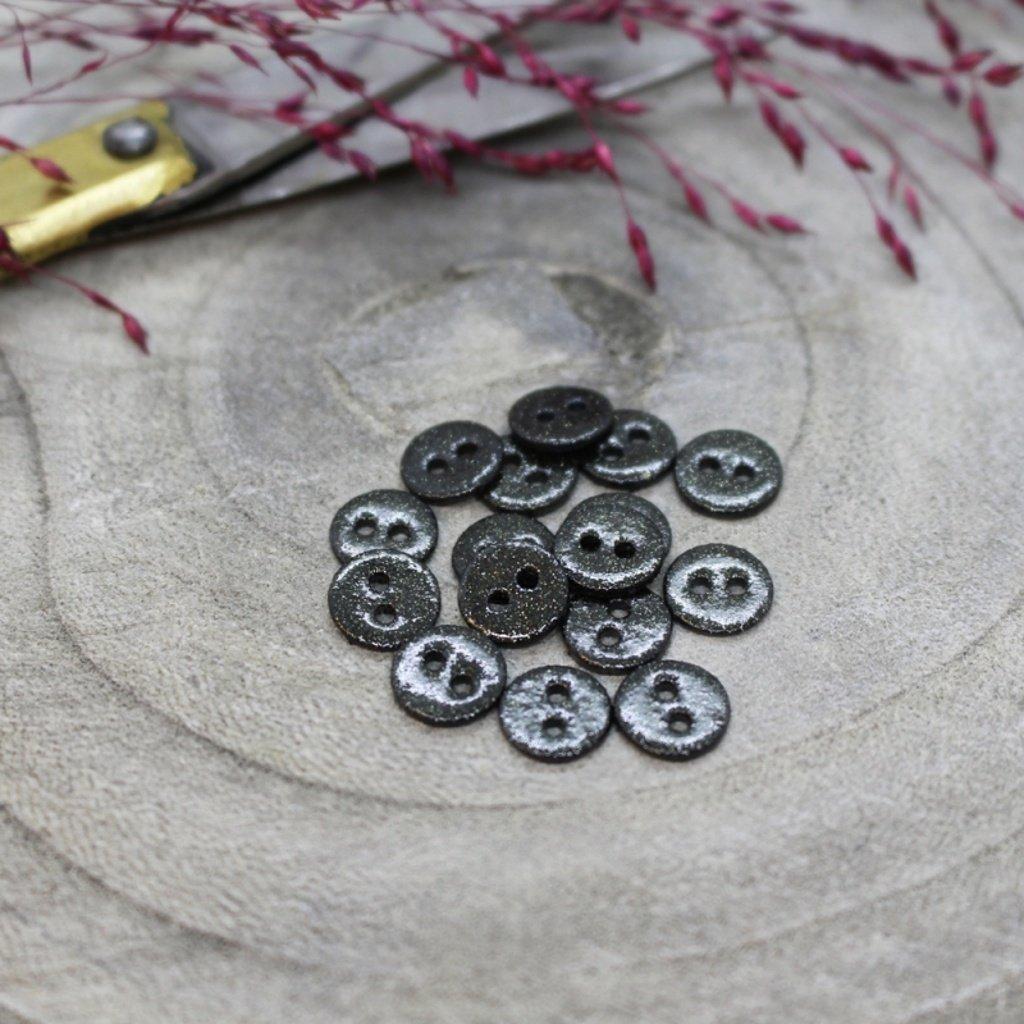 boutons glitter black