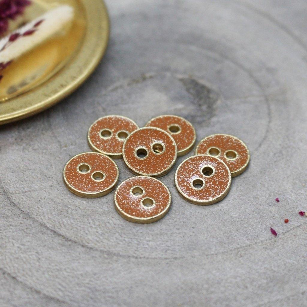 boutons joy glitter chestnut