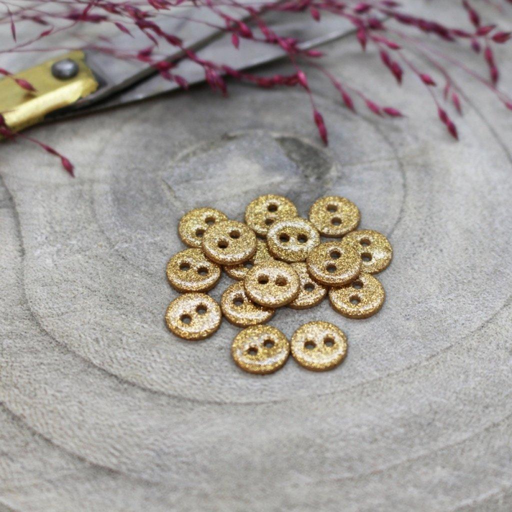 boutons glitter ochre