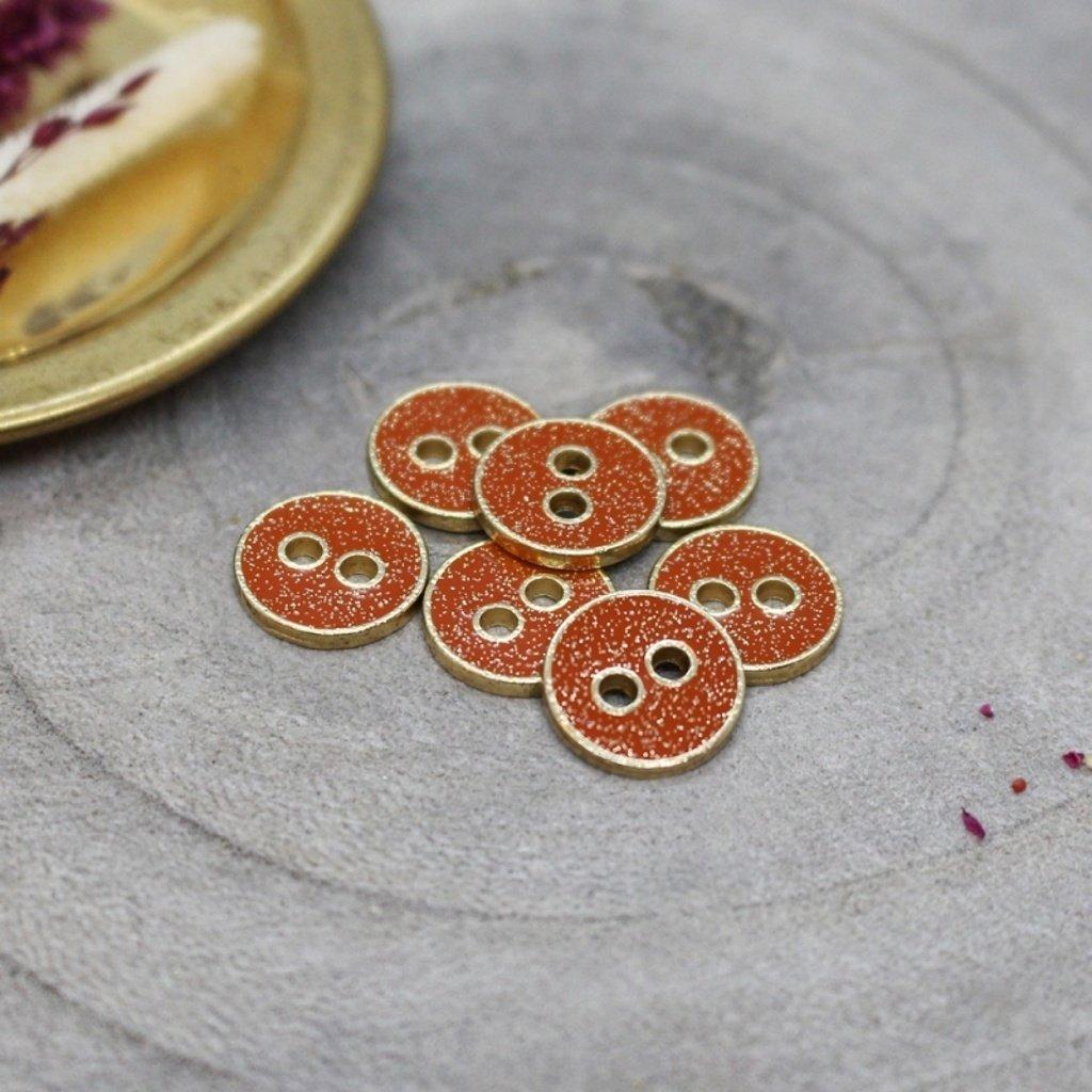 boutons joy glitter tangerine