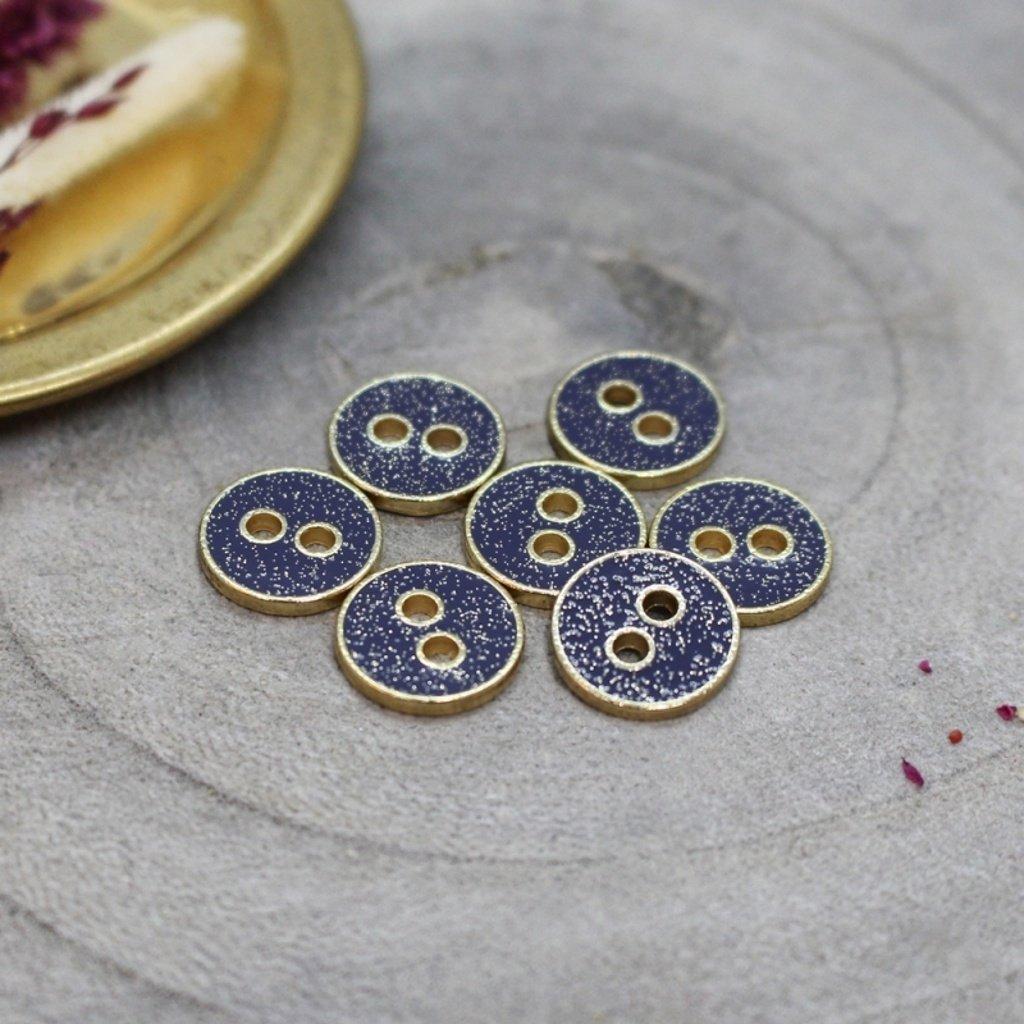 joy glitter buttons cobalt
