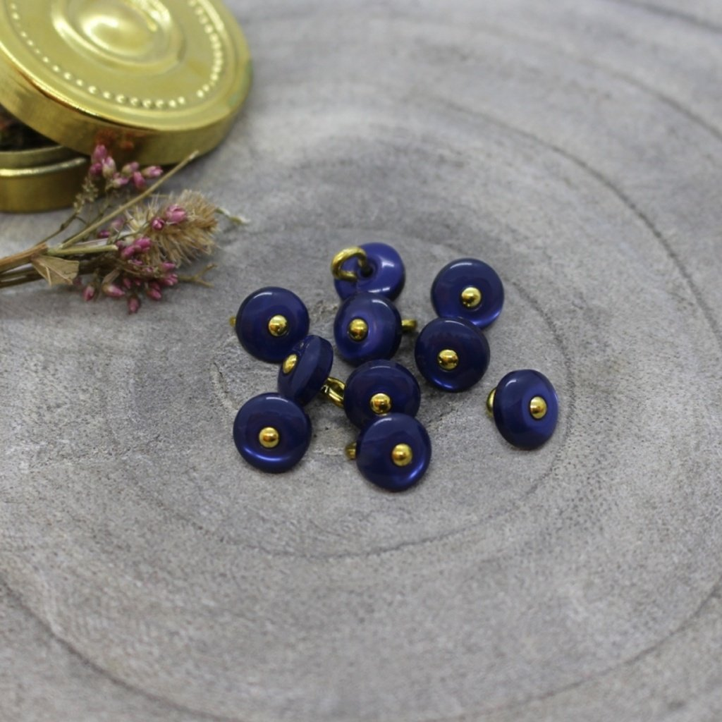 jewel buttons cobalt