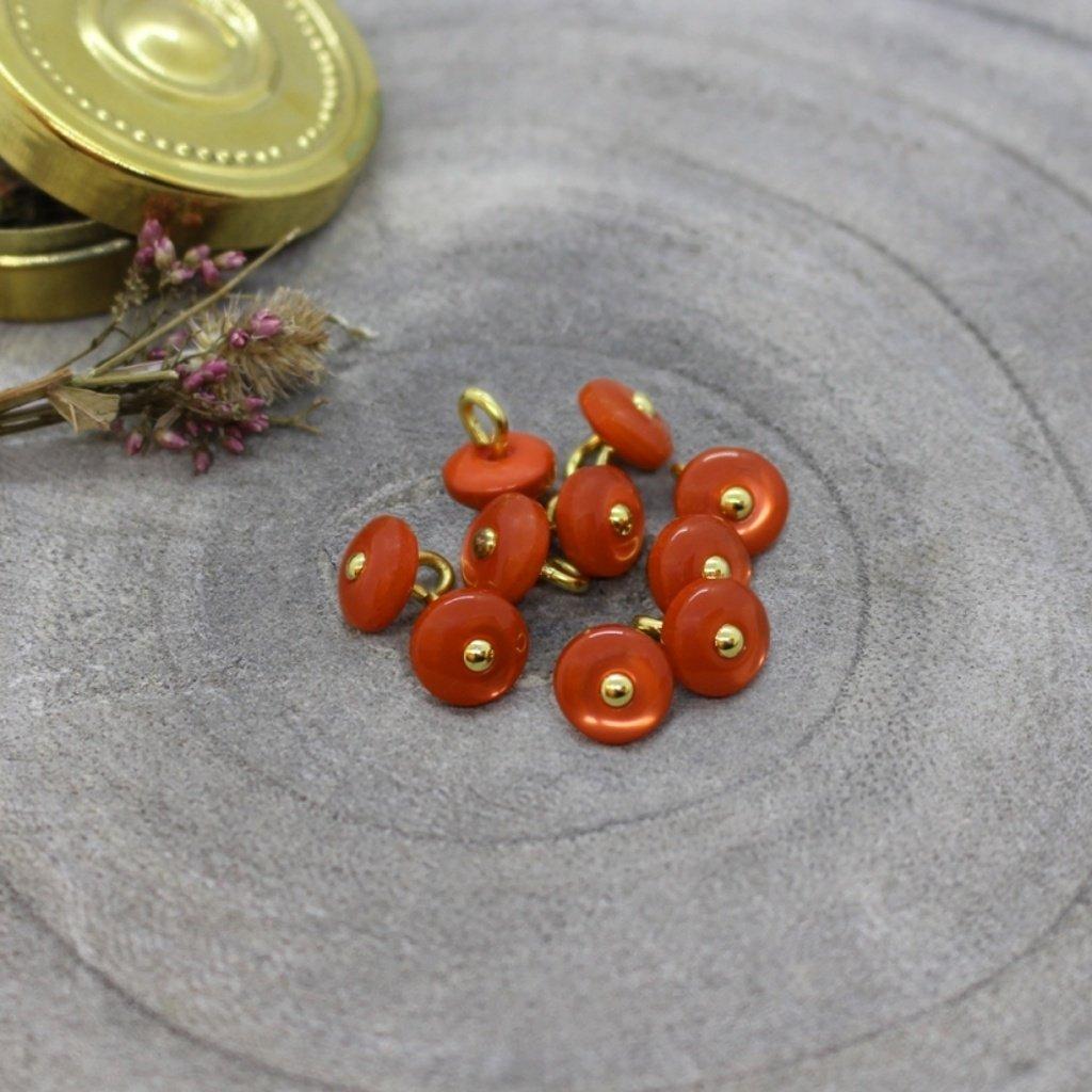 jewel buttons tangerine