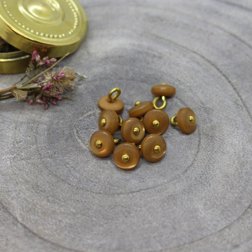 boutons jewel ochre