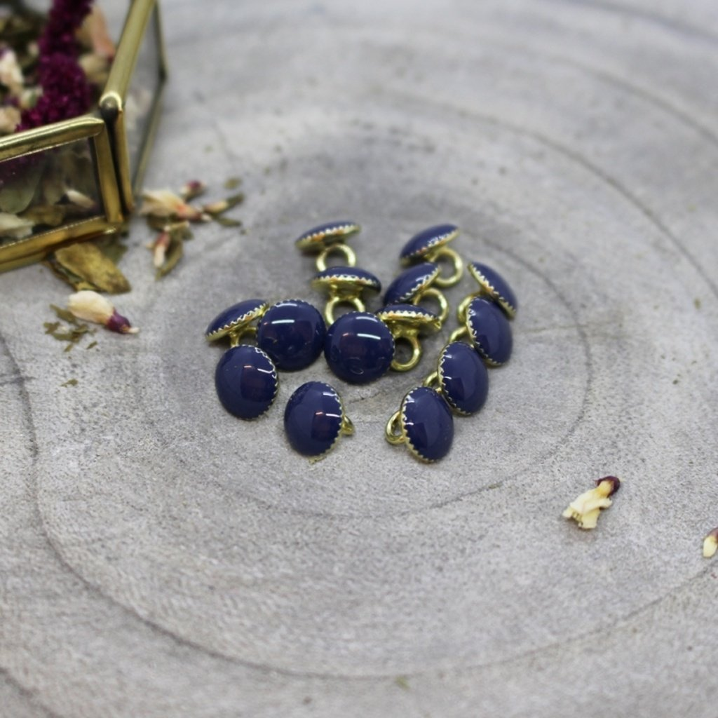 gem buttons cobalt
