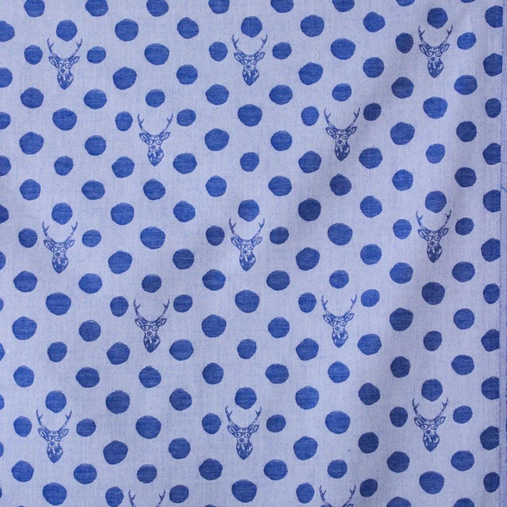 echino-zakar-bavlna-platno-jelen-modra