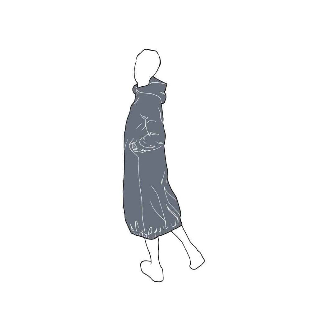 HOODIE DRESS PATTERN Dresses Paper Swedish a6km