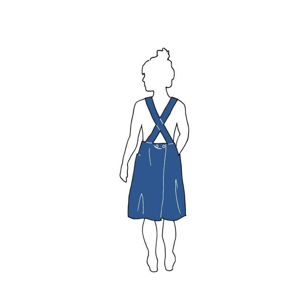APRON DRESS PATTERN Dresses Paper Swedish n6y1