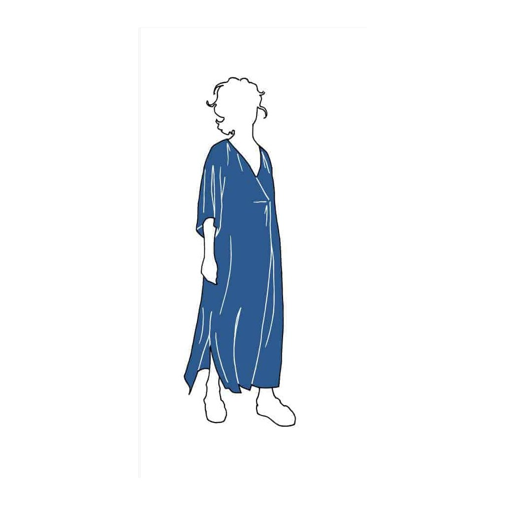 KAFTAN DRESS PATTERN Dresses XL 3XL Paper Swedish n6k1