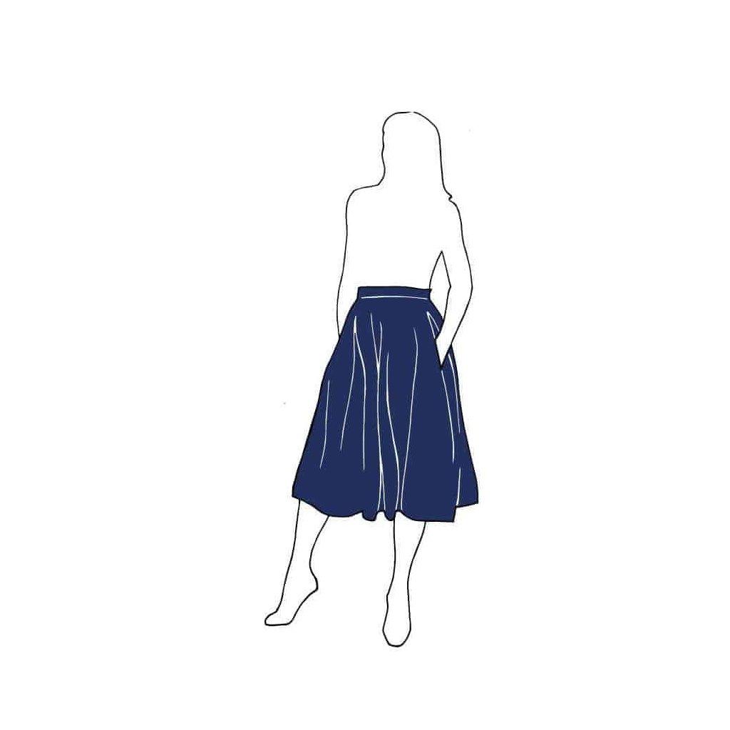 TULIP SKIRT PATTERN Skirts Paper Swedish k5v1
