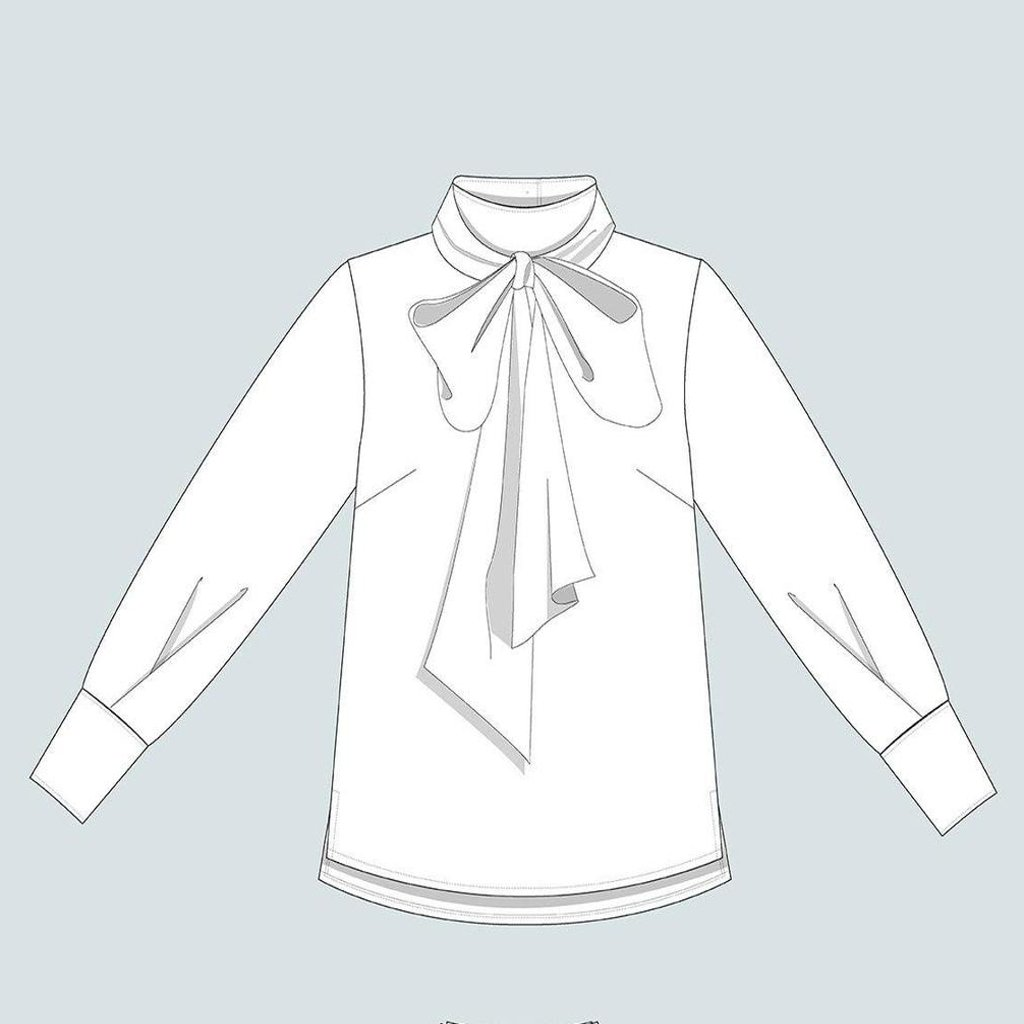 the-aseembly-line-TAL-tie-bow-blouse