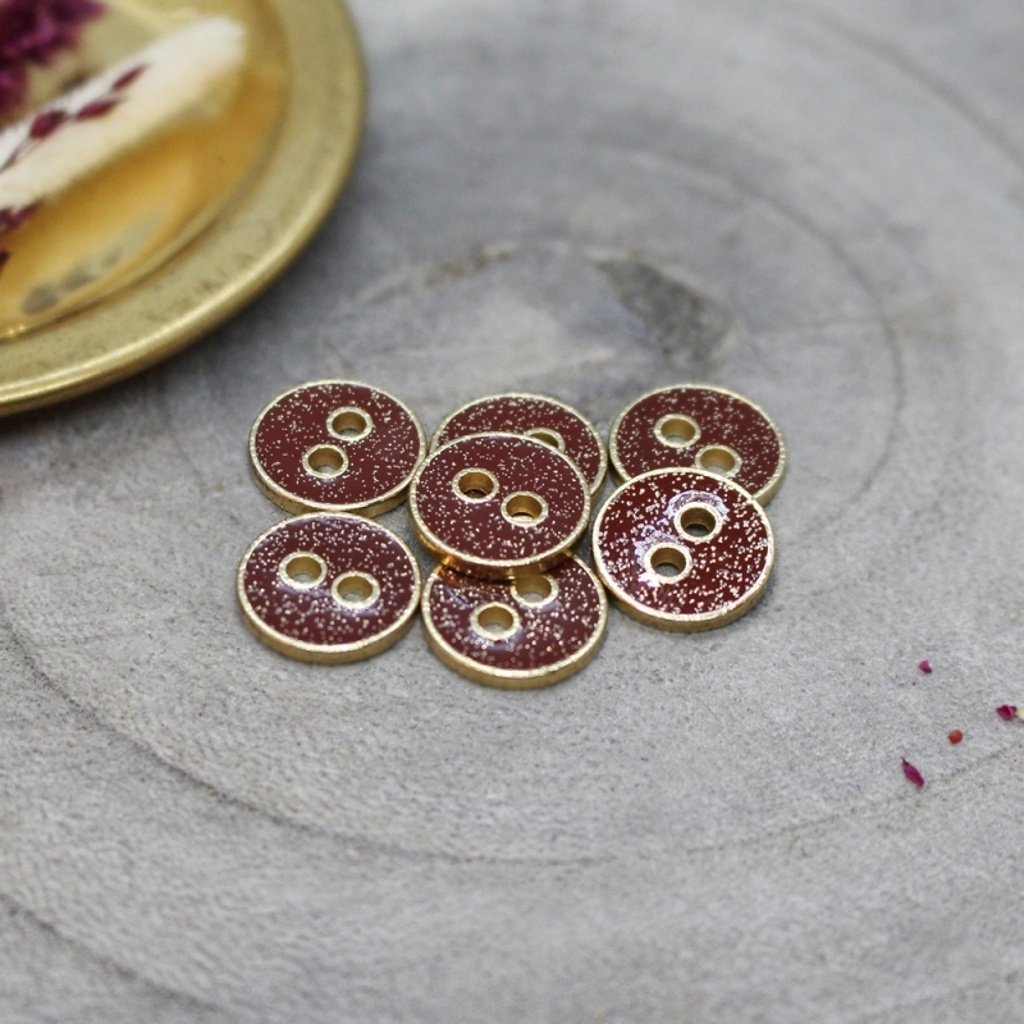 boutons joy glitter amarante