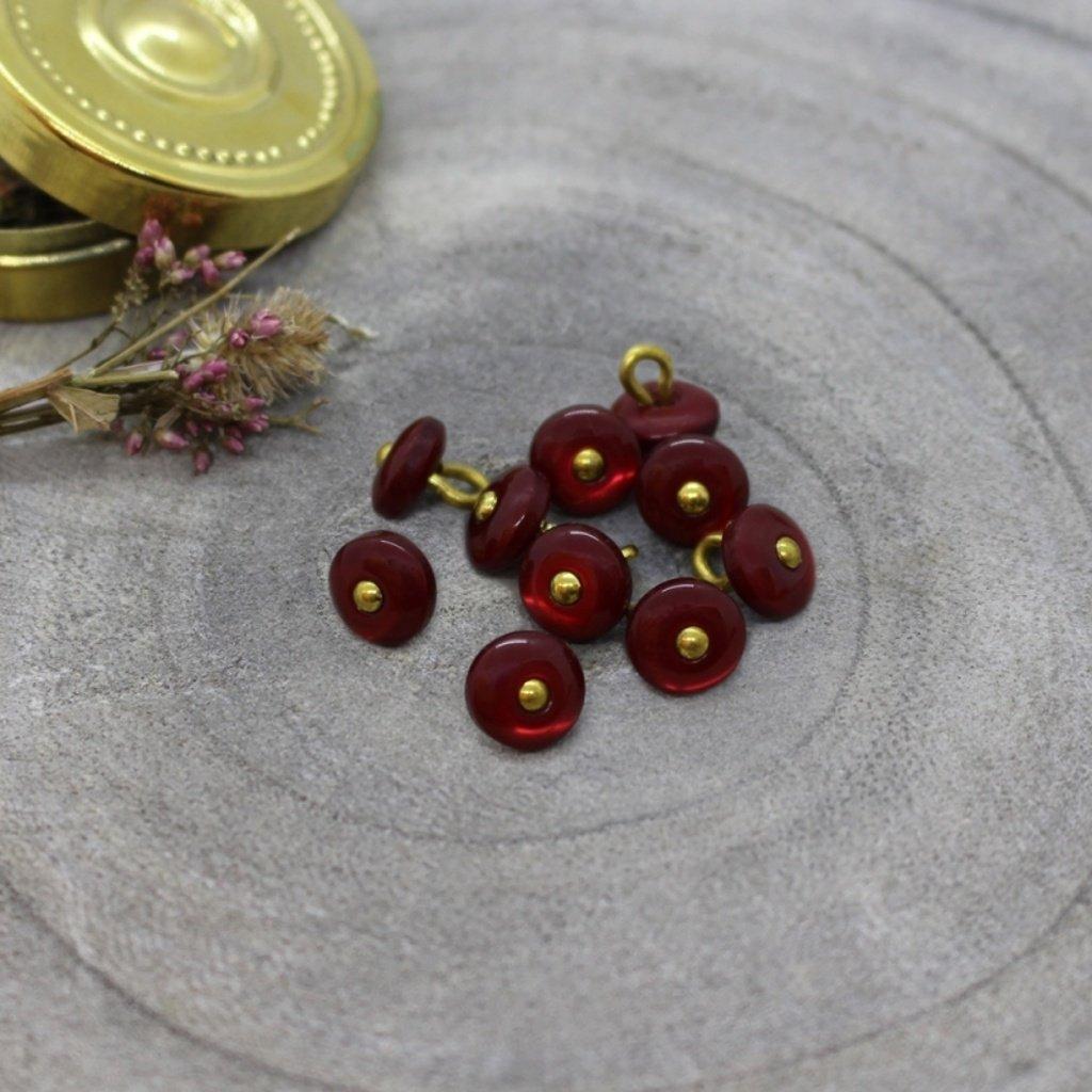 boutons jewel amarante
