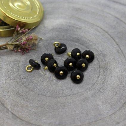 boutons jewel black