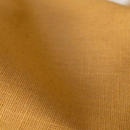 tissu linen ochre