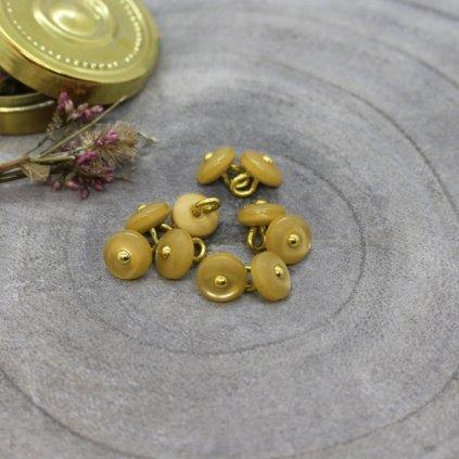 boutons jewel mustard
