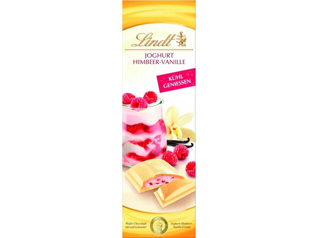LINDT Jogurt MALINA s VANILKOU 100g (bílá)