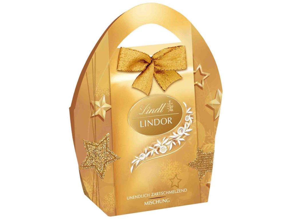 Vánoční taška Lindt Vánoční směs 62g zlatá