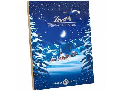 adventni kalendar modra zimni krajina