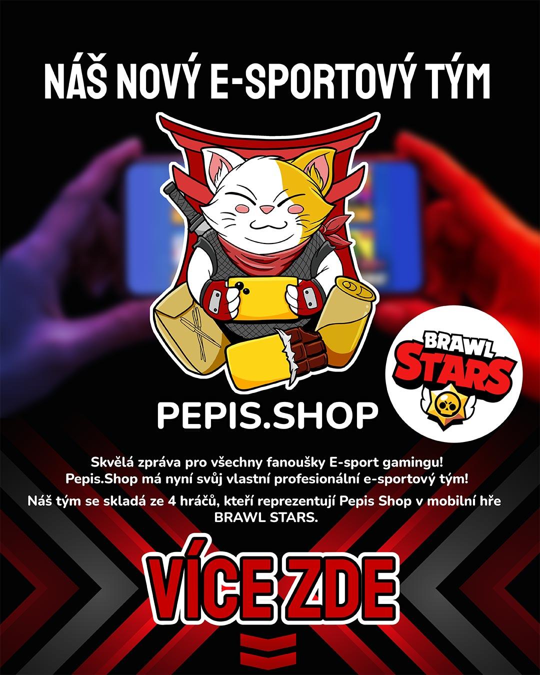 Brawl Stars Pepis.shop aneb náš e-sport tým