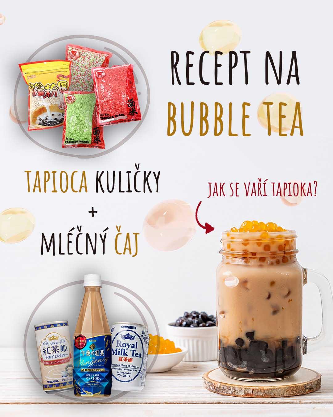 Recept na domácí Bubble Tea