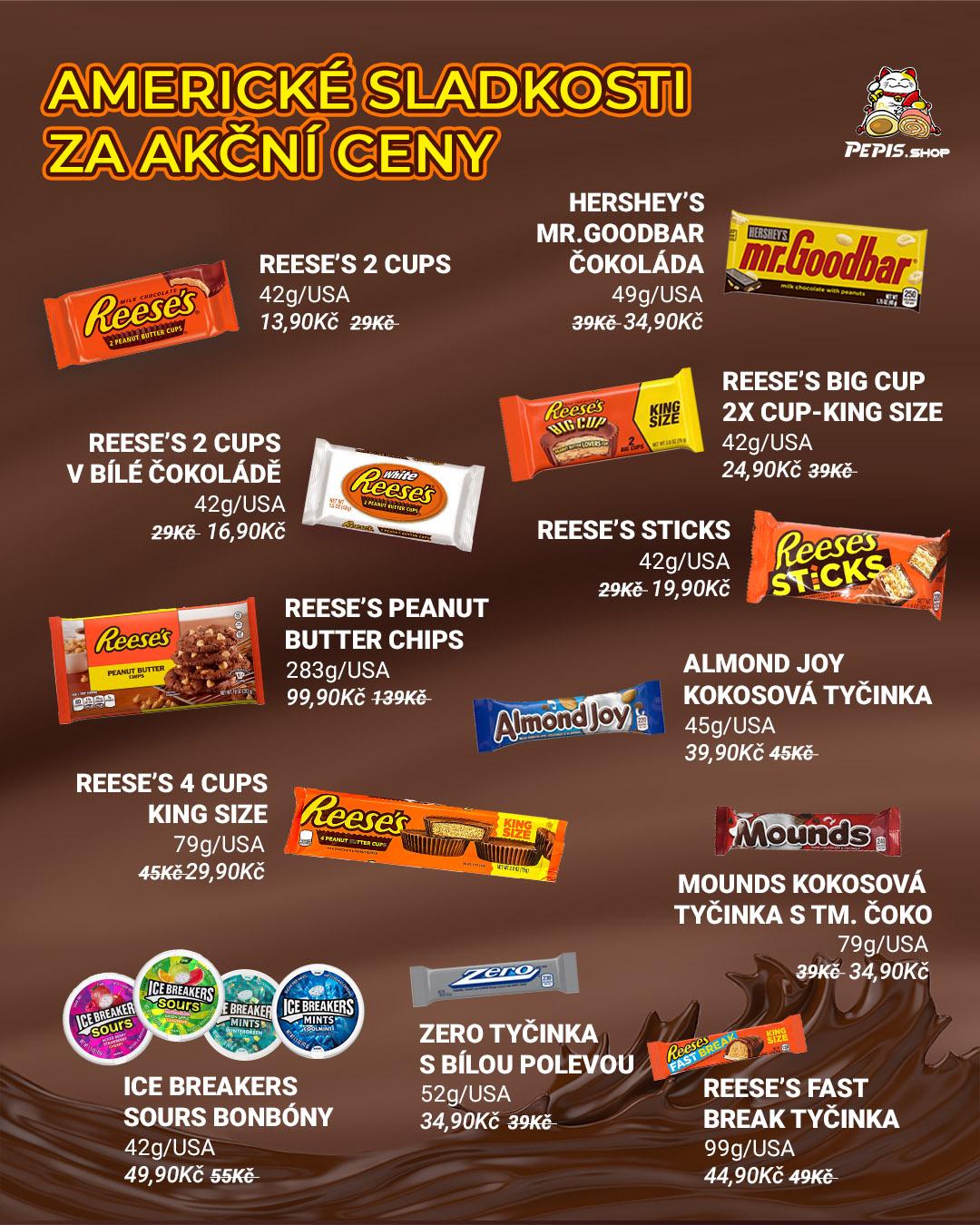 Americké sladkosti - AKCE