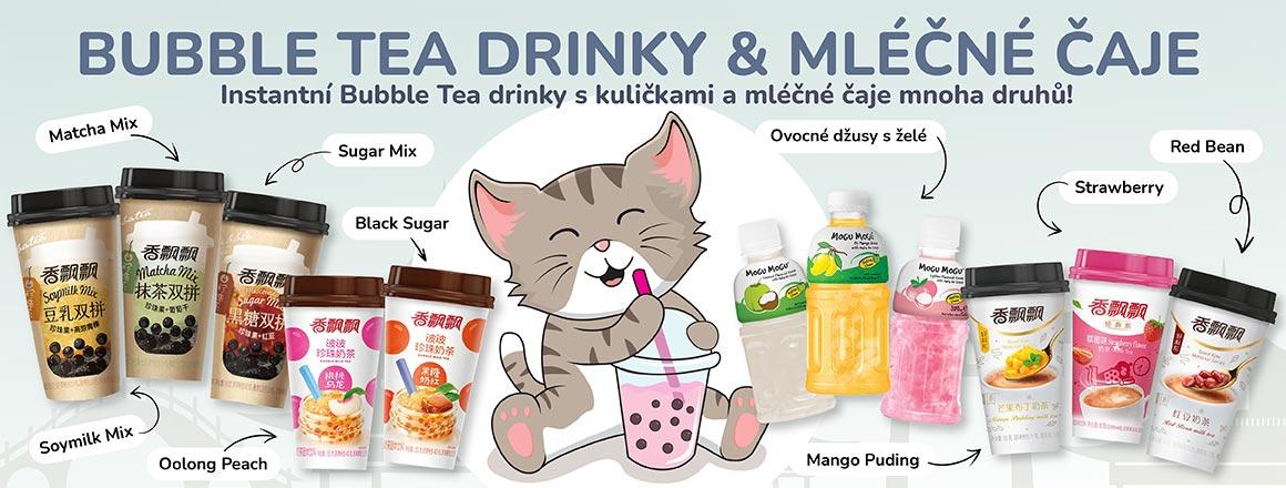 Bubble Tea Drinky & Mléčné Čaje