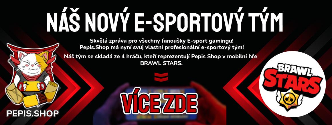 Náš nový e-sportový tým PEPIS.SHOP