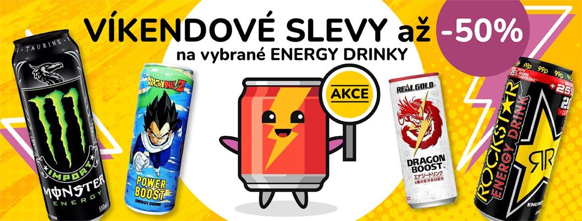 Tento víkend akce na vybrané ENERGY DRINKY!