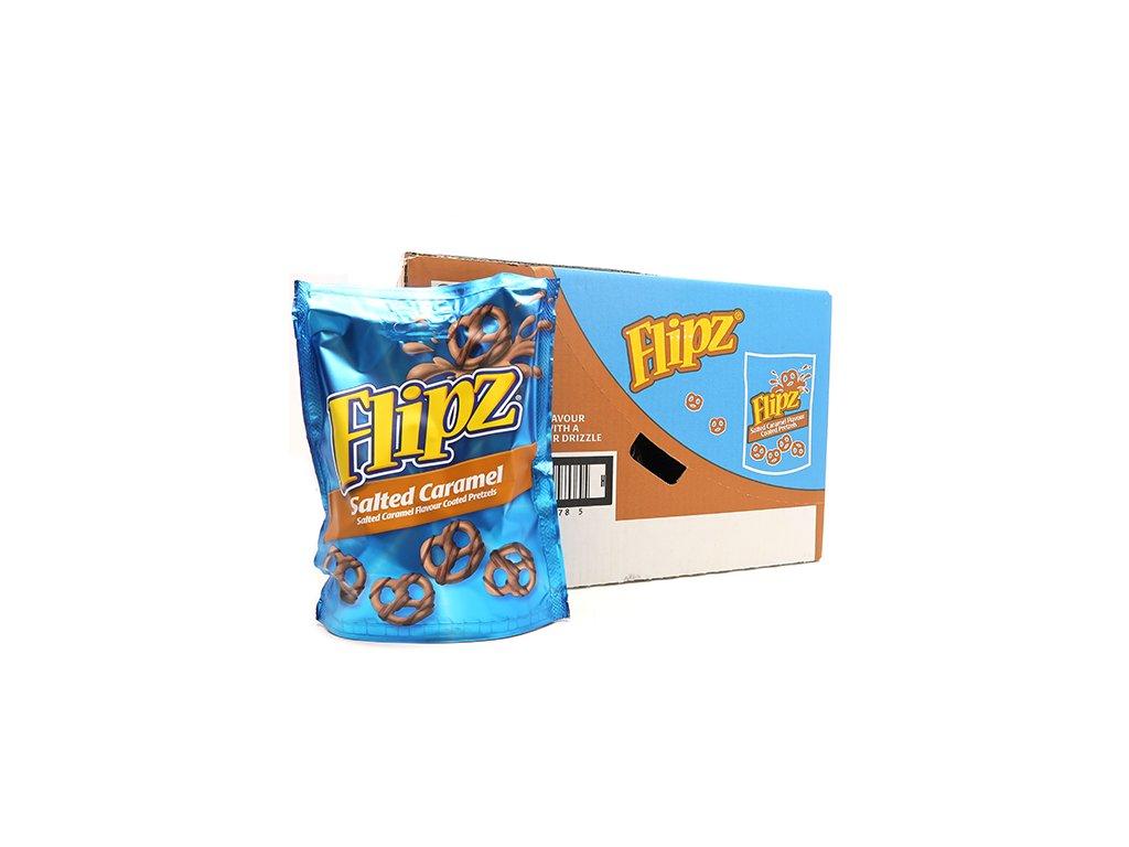 Flipz Salted Caramel Pretzels Balení (6x90g) UK