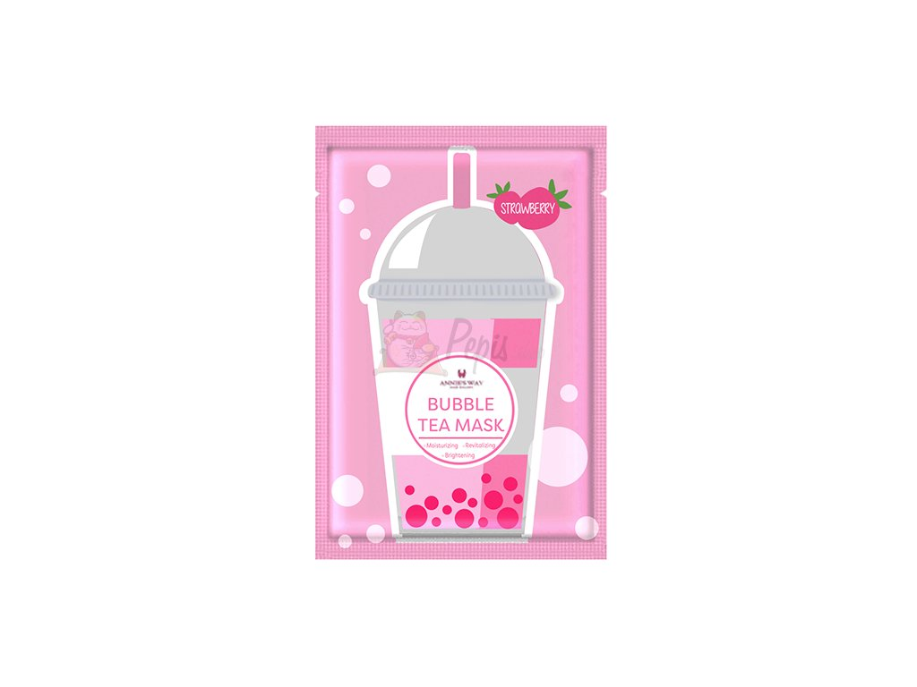 ANNIE'S WAY Bubble Tea Strawberry Sheet Mask 33g KOR