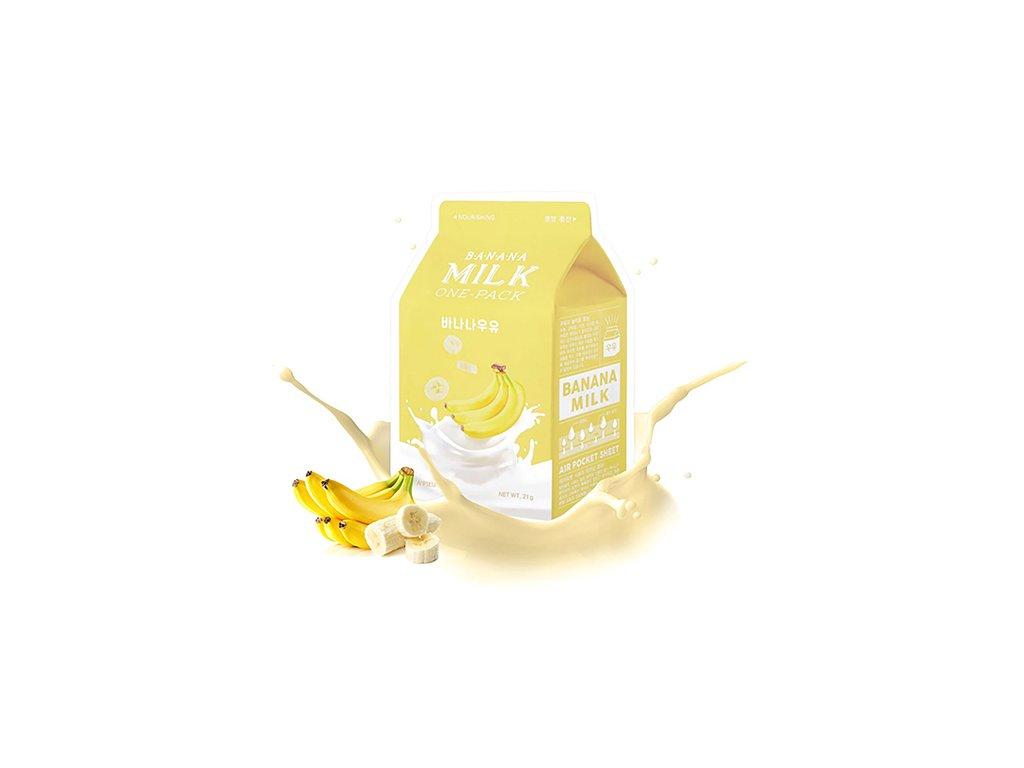A'PIEU Milk One Pack Banana Sheet Mask 30g KOR