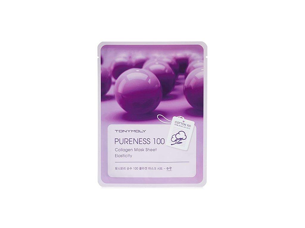TONYMOLY Pureness 100 Sheet Mask Collagen 1ks 40g KOR
