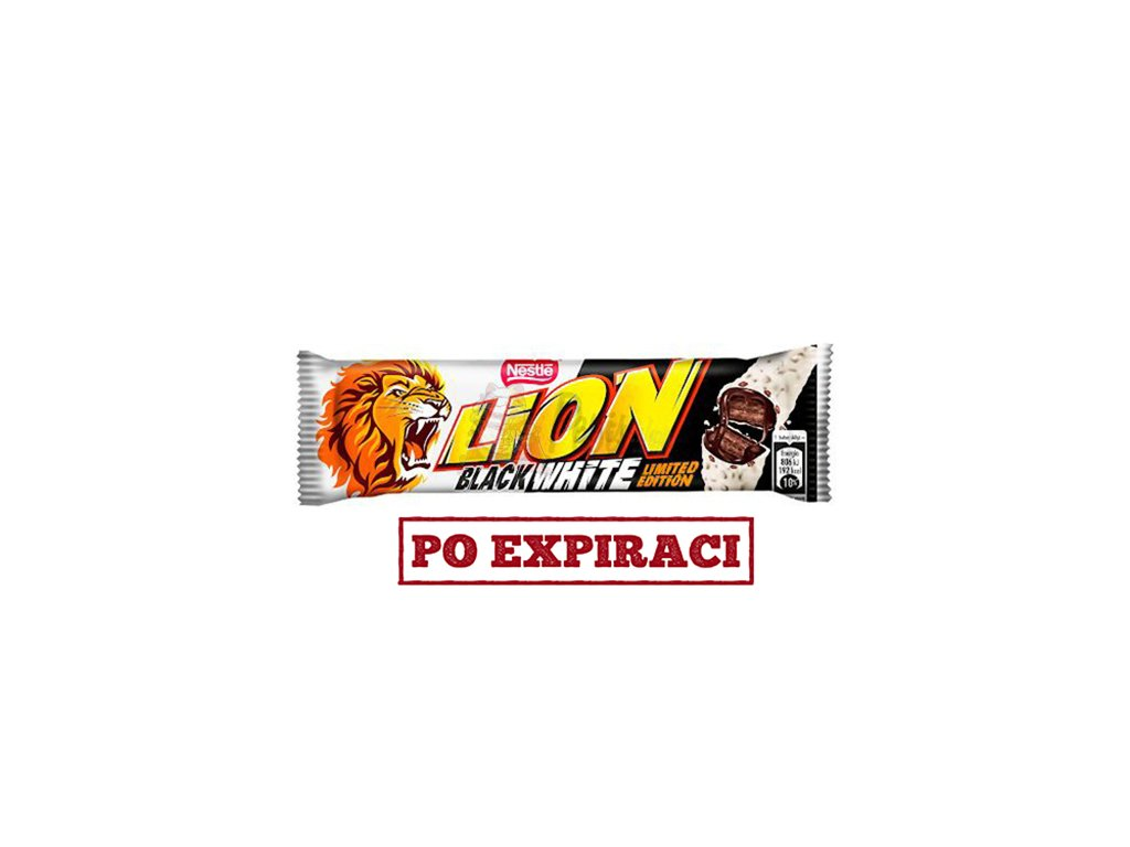 Lion Black White Bar Tyčinka 40g EU