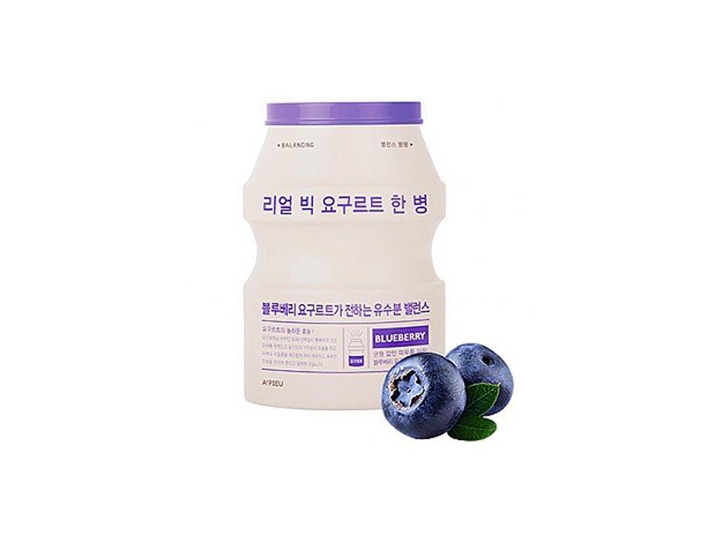 A'PIEU Real Big Yogurt One Bottle Blue Berry Sheet Mask 30g KOR
