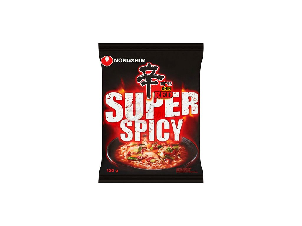 nongshim shin red super spicy noodles 120g