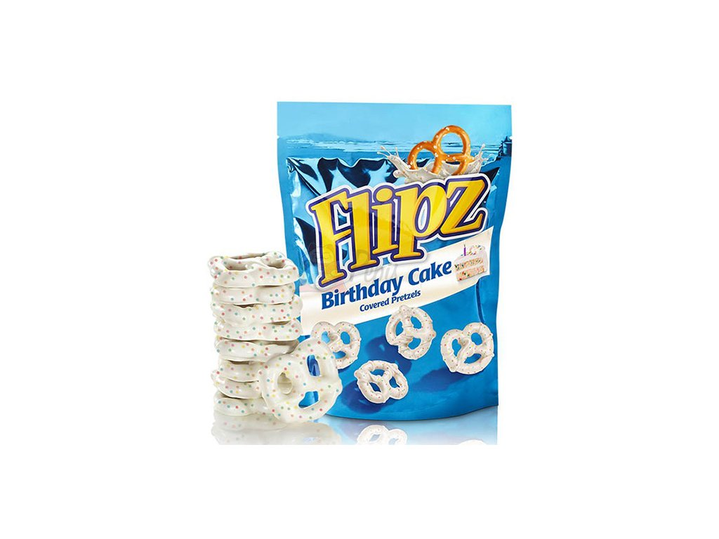 Flipz Birthday Cake Covered Pretzels 141g UK