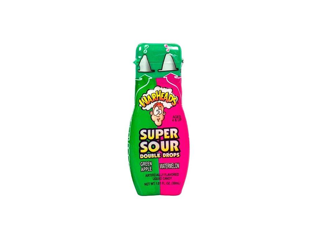 Warheads Super Sour Double Drops Green Apple Watermelon 30ml CHN